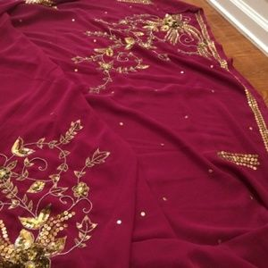 New Indian/Bollywood Party Saree/ Sari with Blouse
